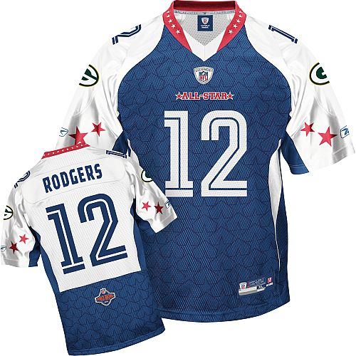 new style 6b228 7ef38 Blue Rodgers Jersey, Green Bay Packers #12 2010 Pro Bowl ID ...