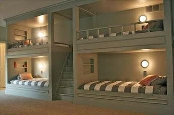 Space Saving Double Deck Beds Bunk Beds Built In Built In Bunks