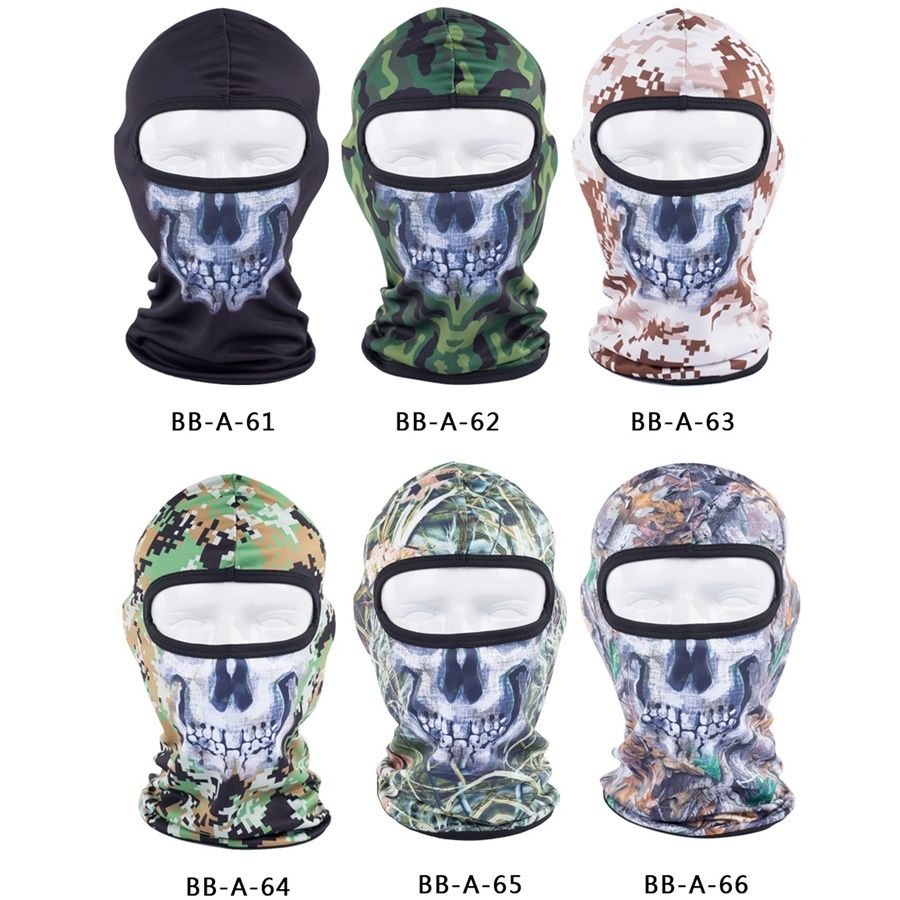 Camouflage Ghost Balaclava Skull √ Full Face Mask Outdoor Sports ...