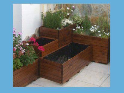 Resultado de imagen de hacer jardineras con palets - Jardineras con palets ...