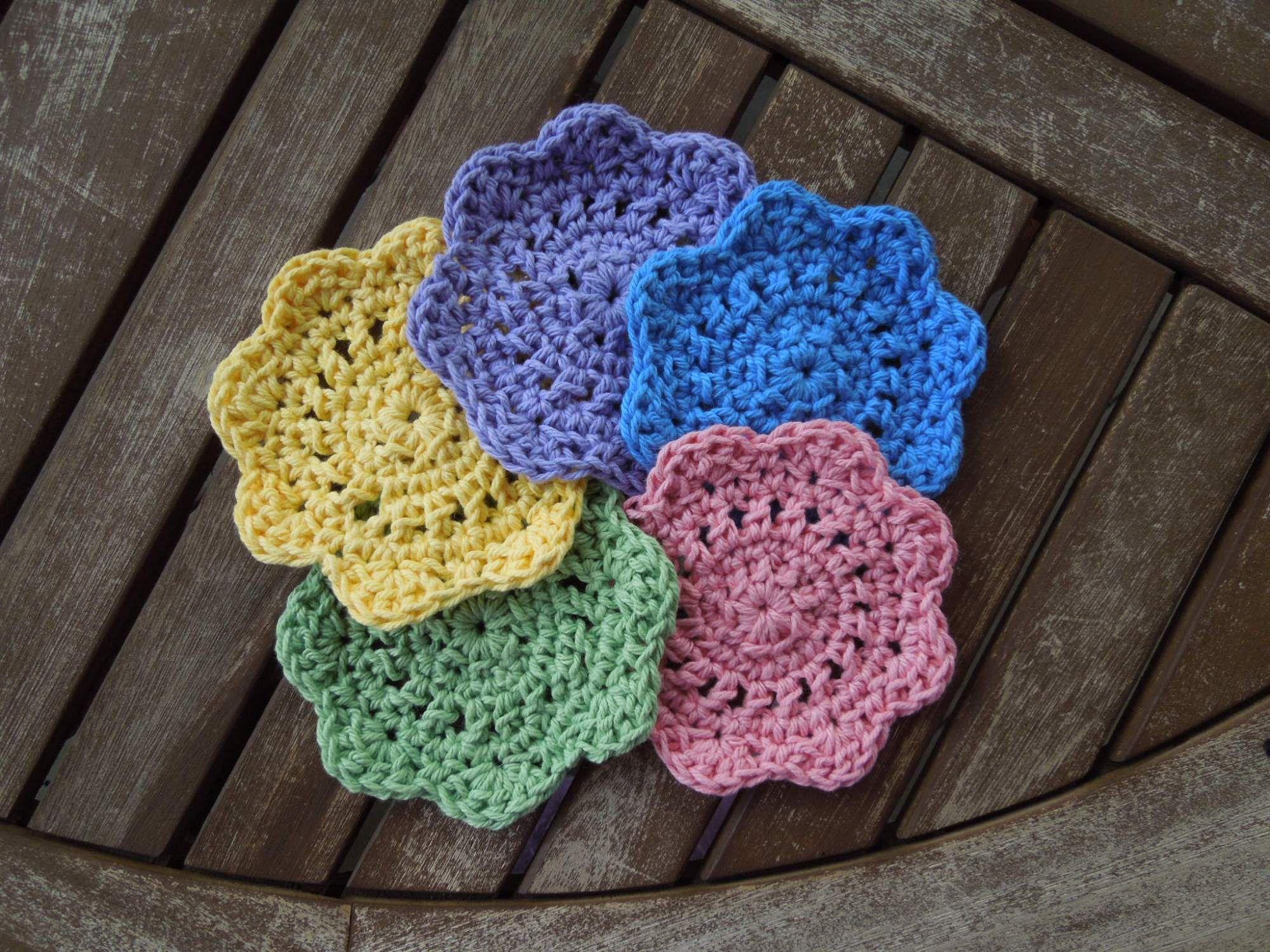Quick & Easy Coasters Free Crochet Pattern | Free crochet, Coasters ...