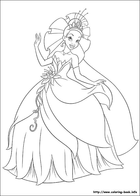 the princess and the frog coloring picture - Princess In The Frog Coloring Pages