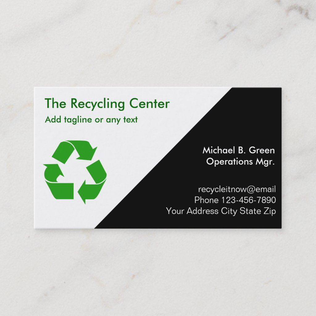 Recycling Business Cards Zazzle Com Recycling Business Business Card Design Simple Simple Business Cards