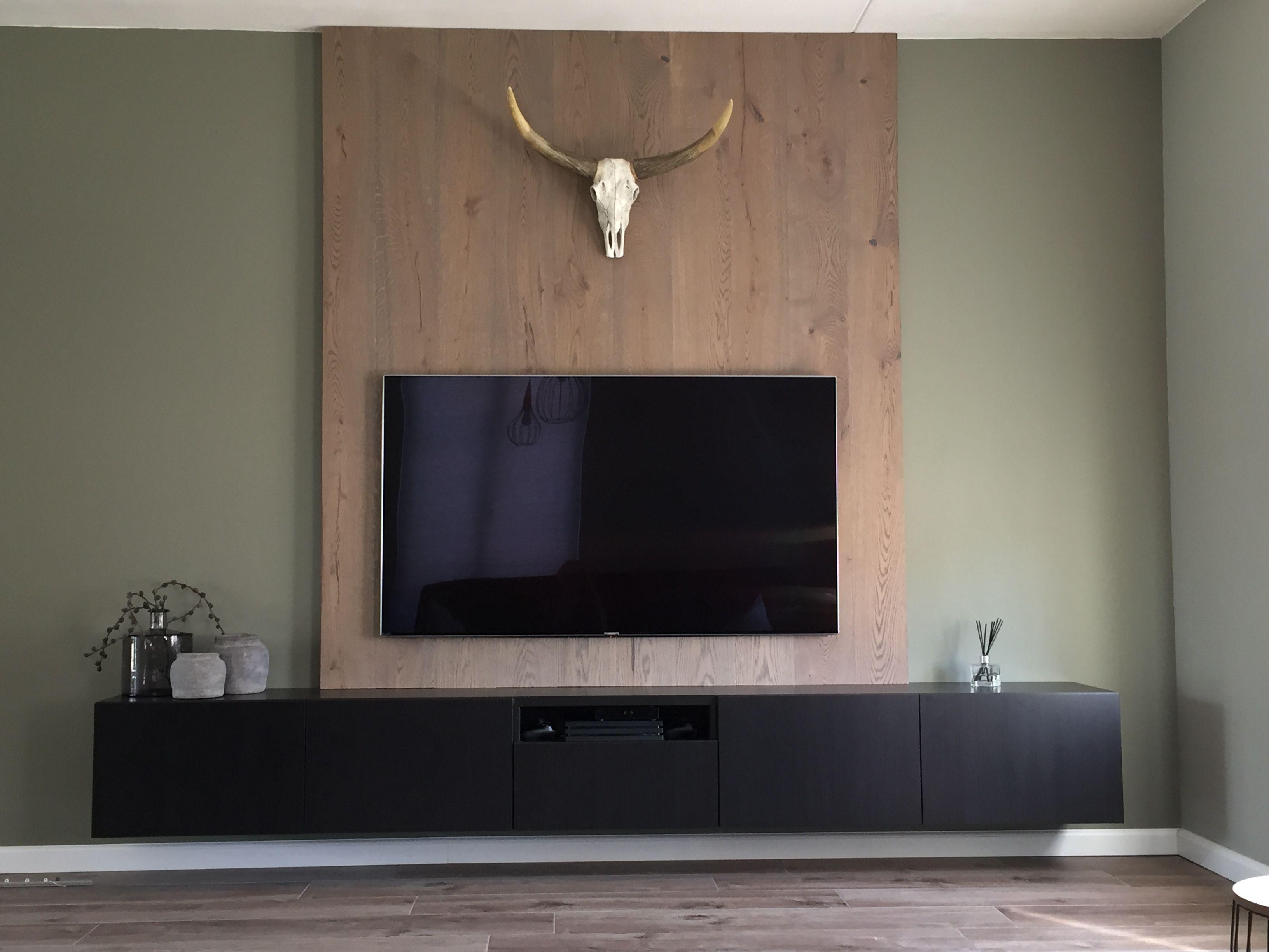 TV meubel Ikea  houten achterwand  Huis in 2019  Tv