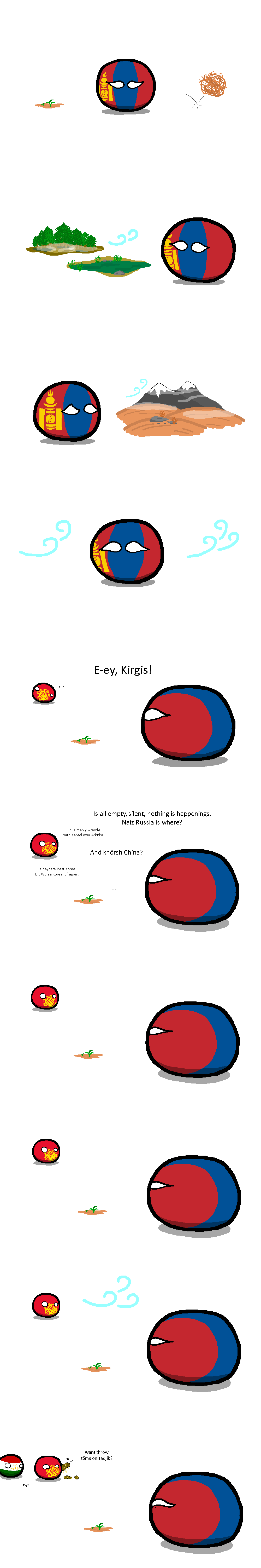 Nothing Happeningredditormade Mongolia Kirghiz Tadzhikistan By Prothey Polandball Countryball Mongolia History Memes Fun Comics