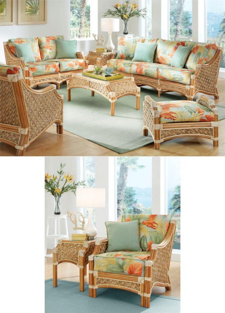 Natural Mauna Loa Furniture Set Wicker Living Room Furniture