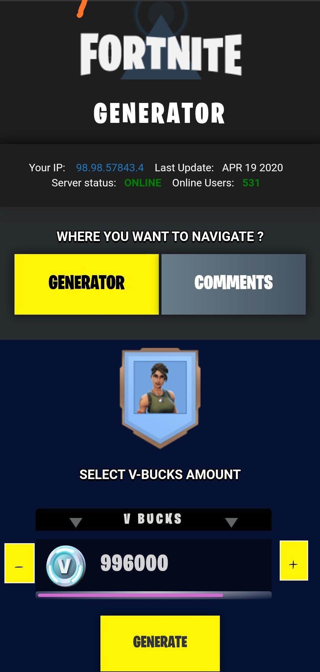 Free v bucks generator get unlimited free v bucks en