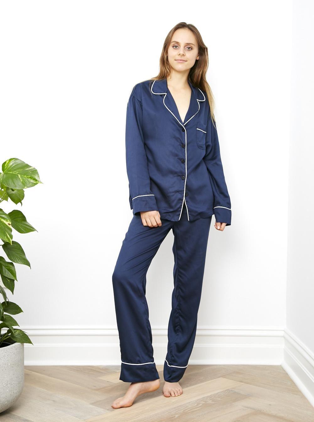 Blue Nights Long Sleeve Pj Shirt from ettitude.com.au    Street Style Pjs +  Bedtime Pjs fa9c17ab7