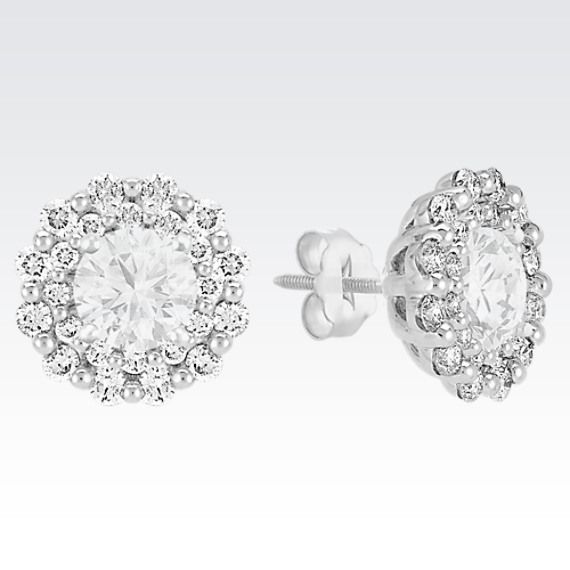 Layered Round Diamond Earring Jackets From Shane Co