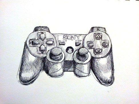 Ps3 Pencil Sketch Drawings Video Game Drawings Drawings Artist