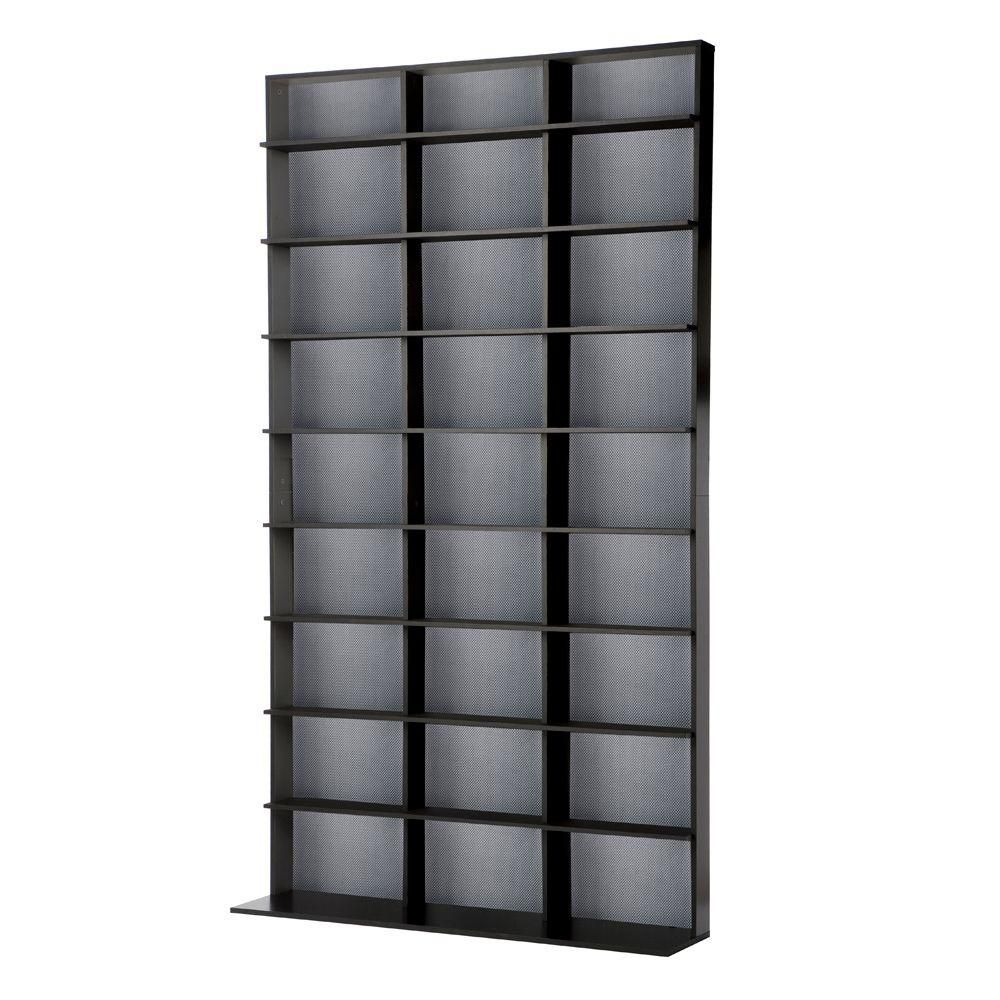 Atlantic Black Media Storage 35435725 Media Storage Dvd Shelves