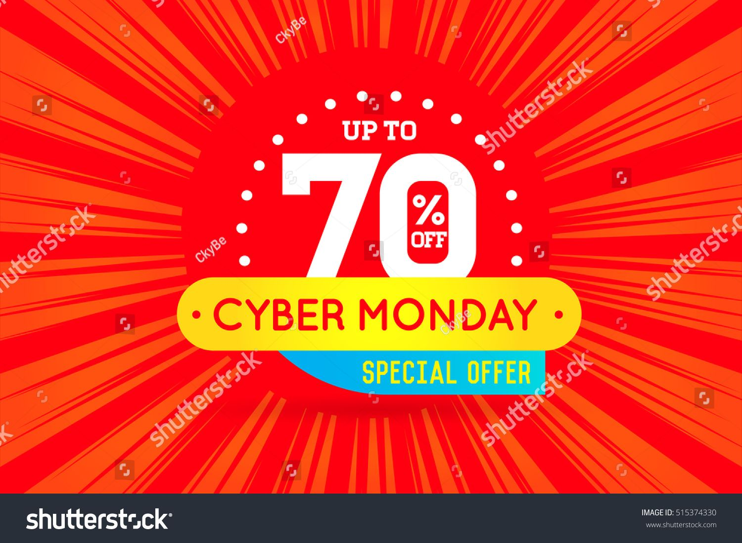 Cyber Monday Sale Sign Banner Poster Ready For Web And Print