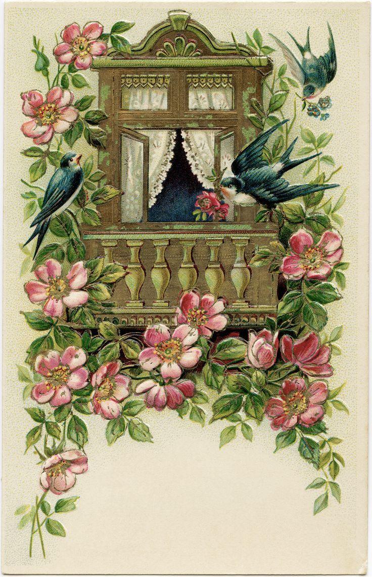 Новогодние, старые открытки дома