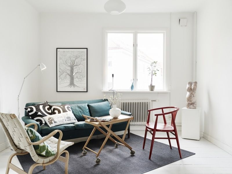 Sal n minimalista con muebles reutilizados blog y salones - Muebles salon minimalista ...