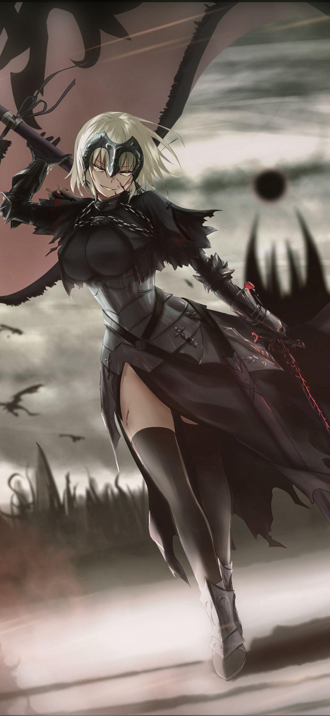 Hunt Time Jeanne Ruler Avenger Fate Grande Order Iphone X Anime