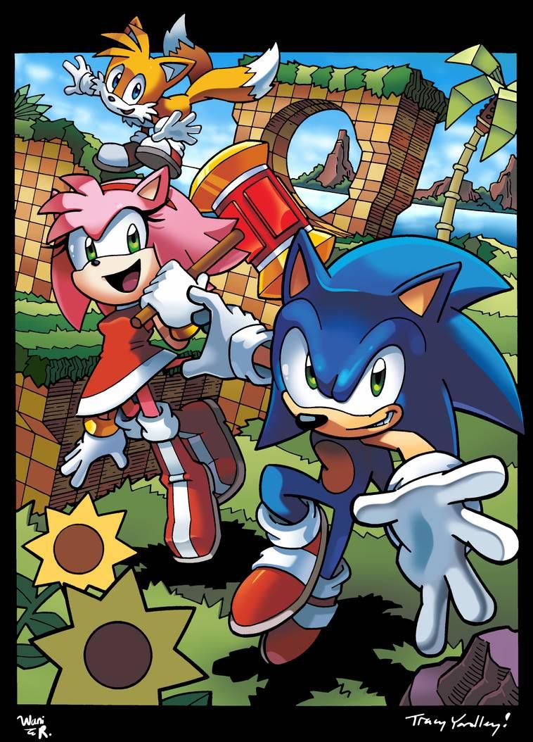 Sonic Tails And Amy By Waniramirez On Deviantart Sonic Sonic Fan Art Sonic Art