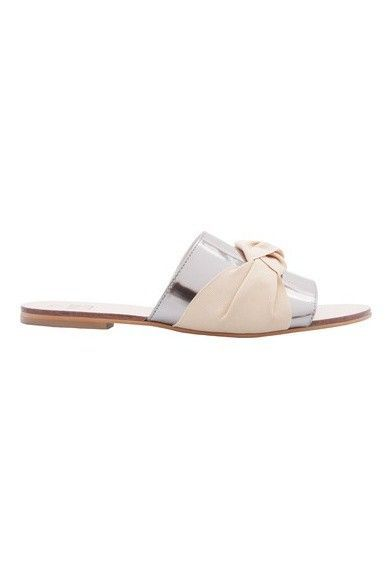 VINCI minimal sapatos Chinelo slider minimal VINCI silver prateado OQVestir 9e14ad