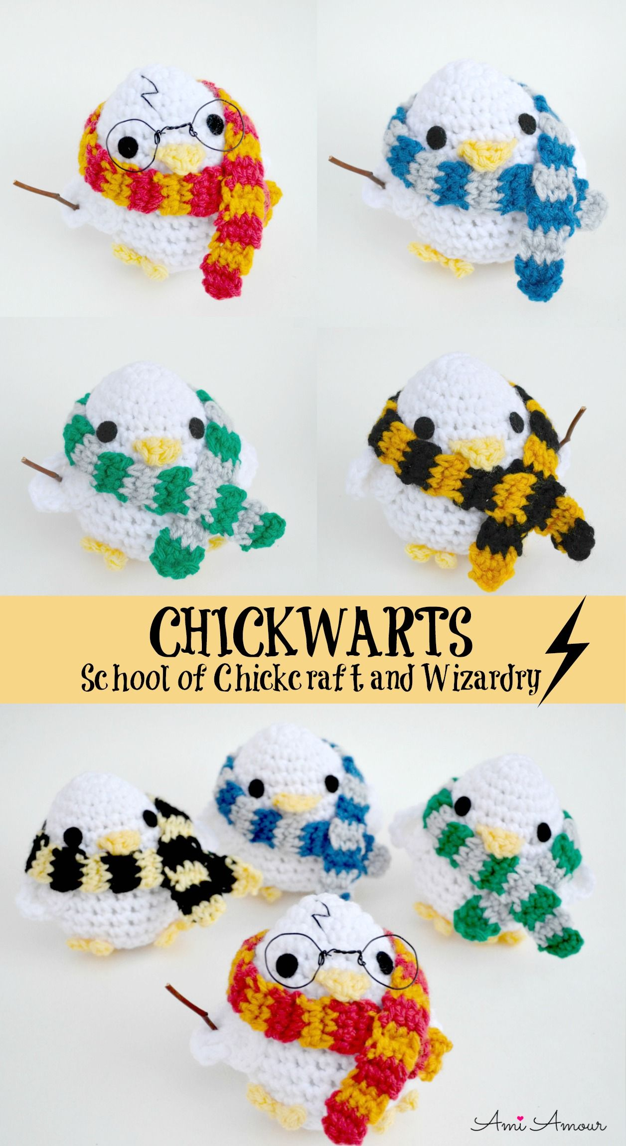 Harry Potter Amigurumi - Wizarding Chick - Free Pattern #scarves