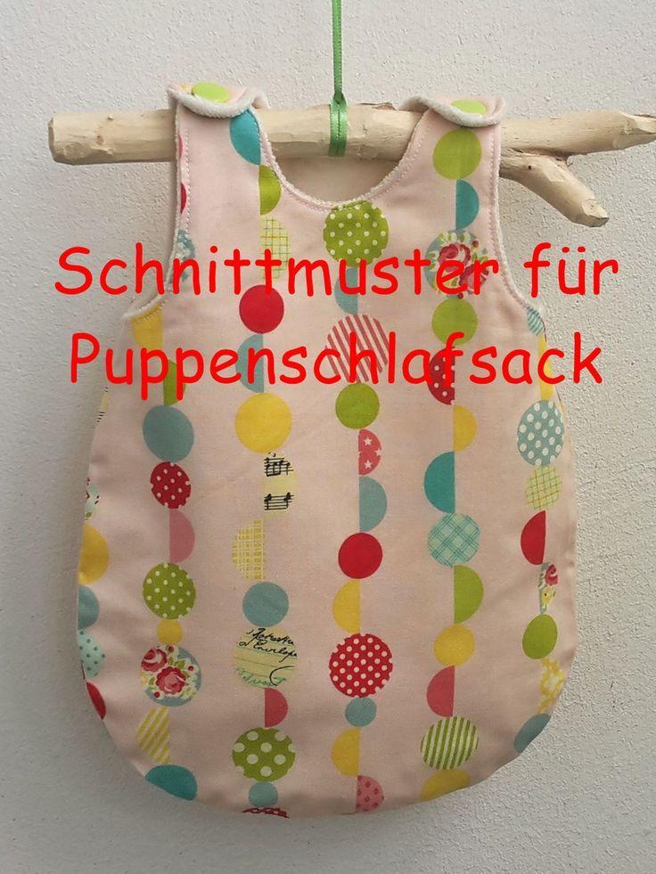 Schnittmuster für einen Puppenschlafsack | Puppenschlafsack, Kam ...