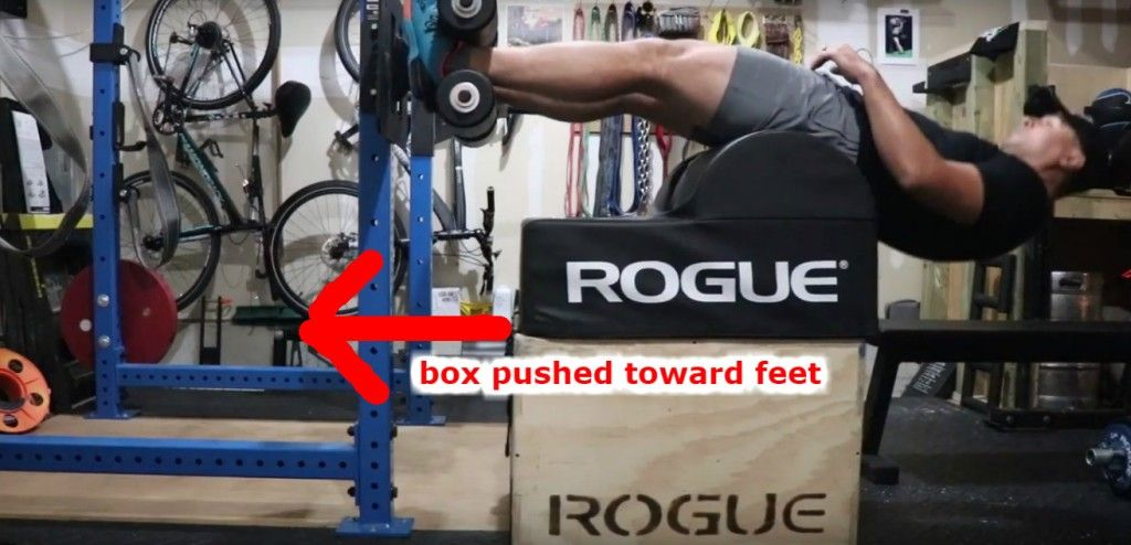 Rogue echo ghd sit ups cause the box to slide gym equipment