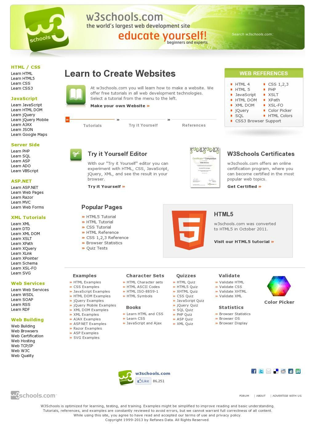 The Website W3schools Courtesy Of Pinstamatic Http
