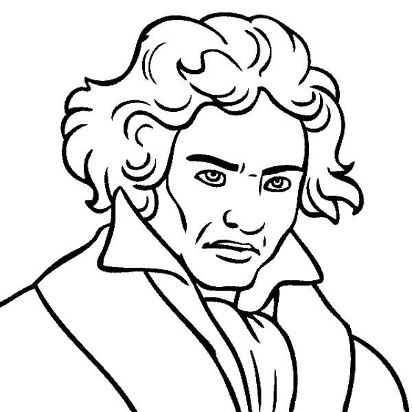 Beethoven Ludwig Van Beethoven The Great Composer Coloring
