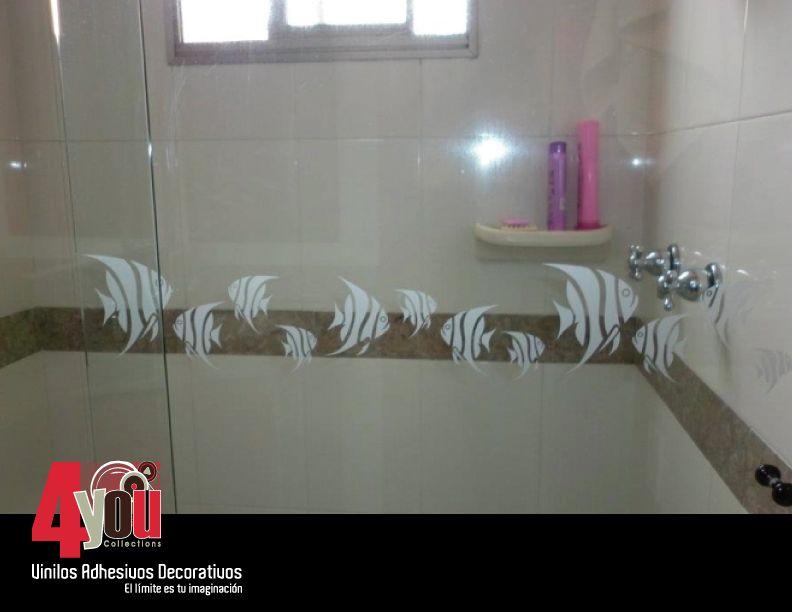 Cenefa de peces. Una opción práctica para decorar tus baños.   Baños ...