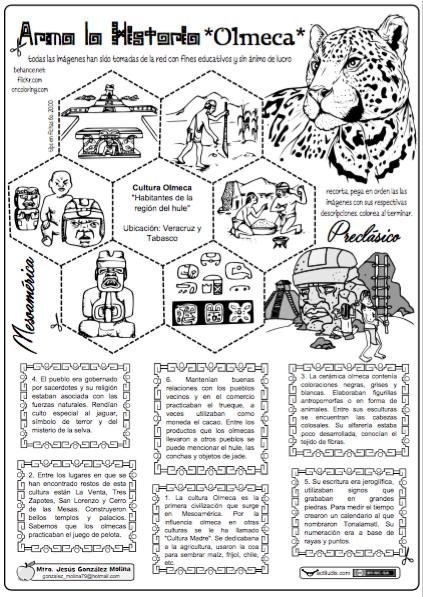 Olmeca Ideas Y Recursos Para Sociales Actividades De Historia