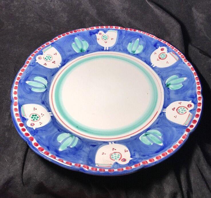 Explore Italia Licence Plates and more! & Solimene vietri italy ceramic bird pigen blue white green maroon ...