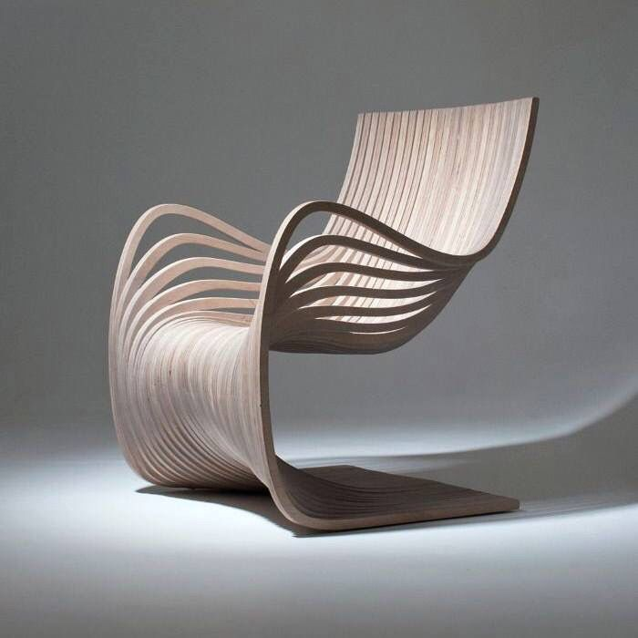 modern furniture design. wooden chair showing movement and material conscious design modern furniture n