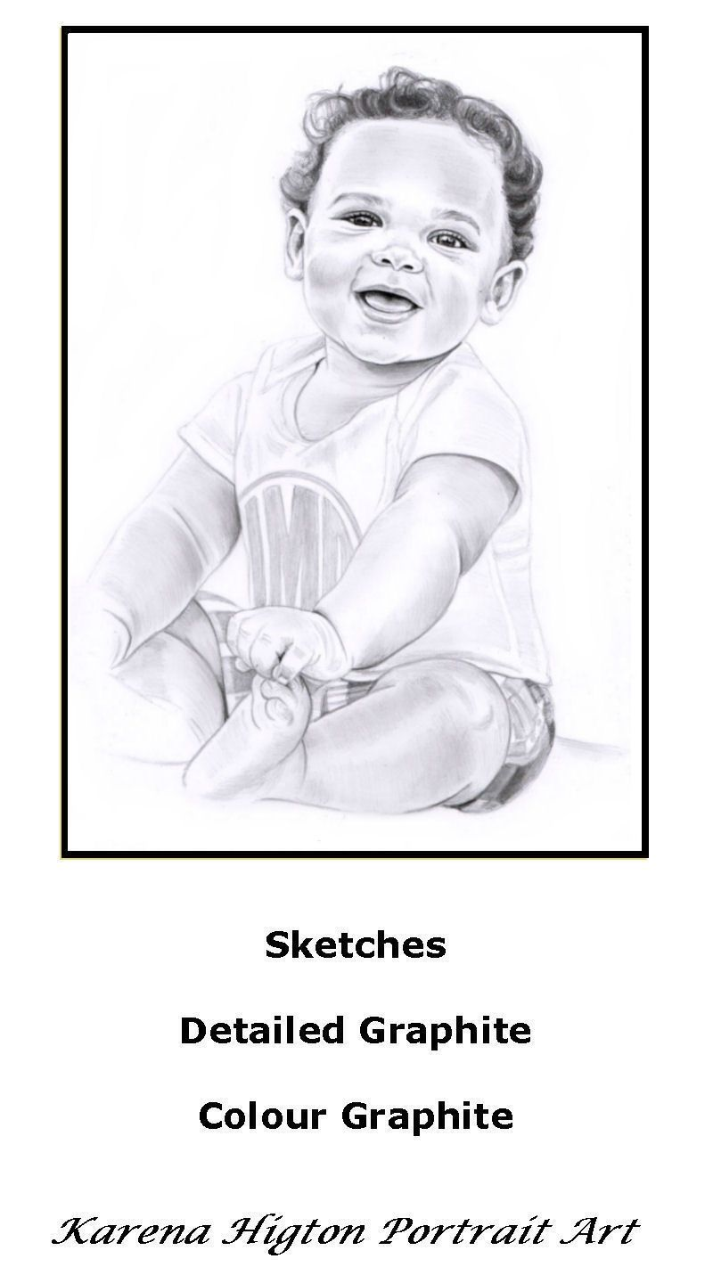 a4 pencil sketch drawing portrait of a baby boy a4 sketches from 25
