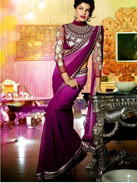 Indian Designers Bridal Embroidered Saree Collection 2014 15