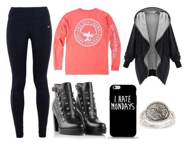 """""""Untitled #2070"""" by maguiswag ❤ liked on Polyvore featuring beauty, NIKE, Topshop and Diesel"""