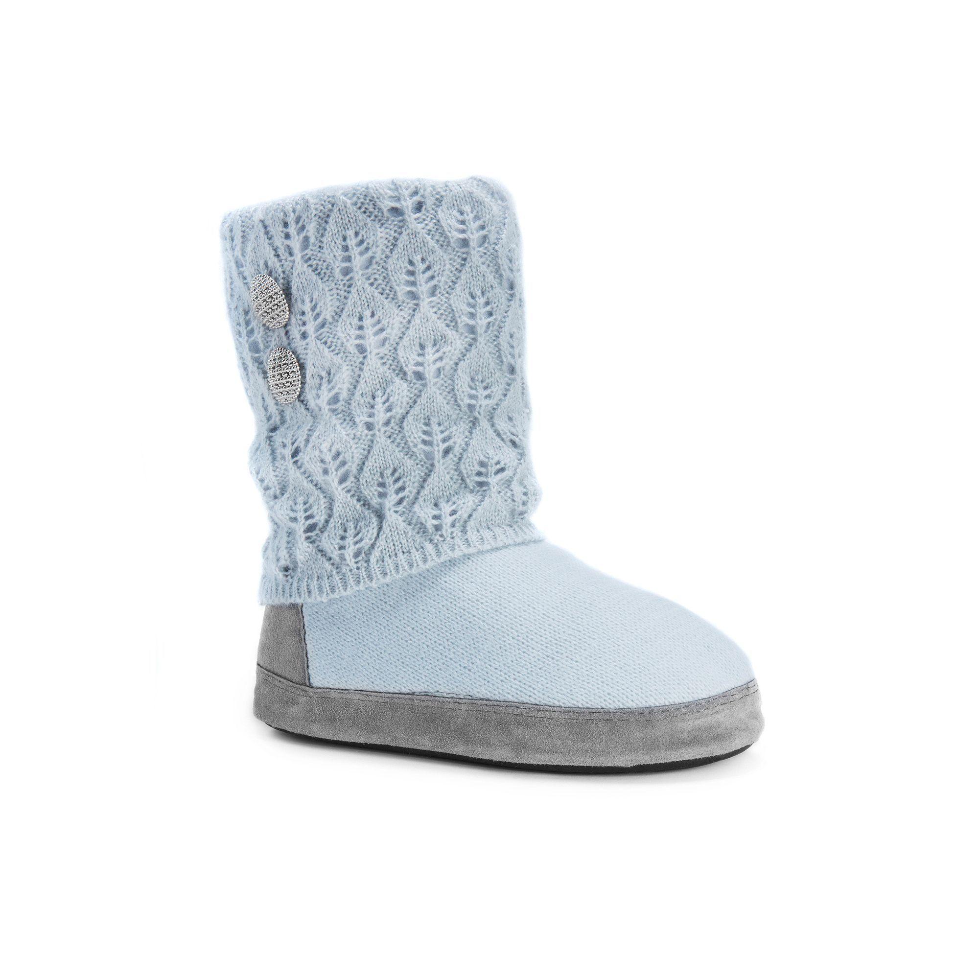 MUK LUKS Sofia Slipper(Women's) -Teal/Stripe Polyester Faux Fur Buy Cheap Prices EZ5QpaGa
