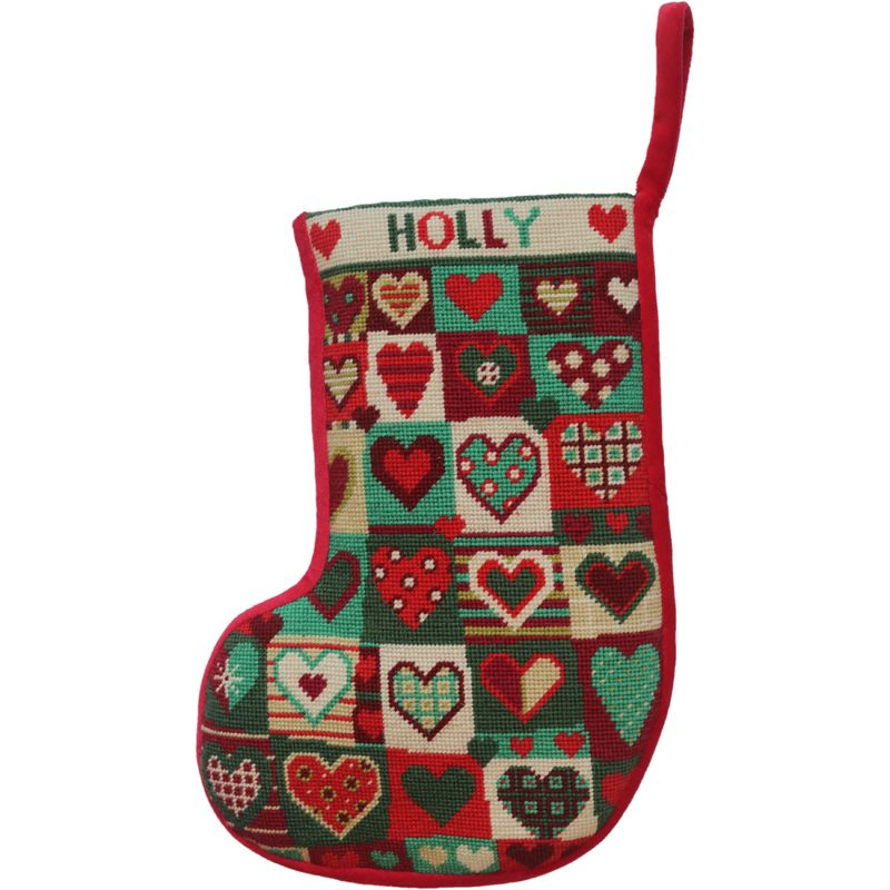 Evergreen christmas stocking navidad