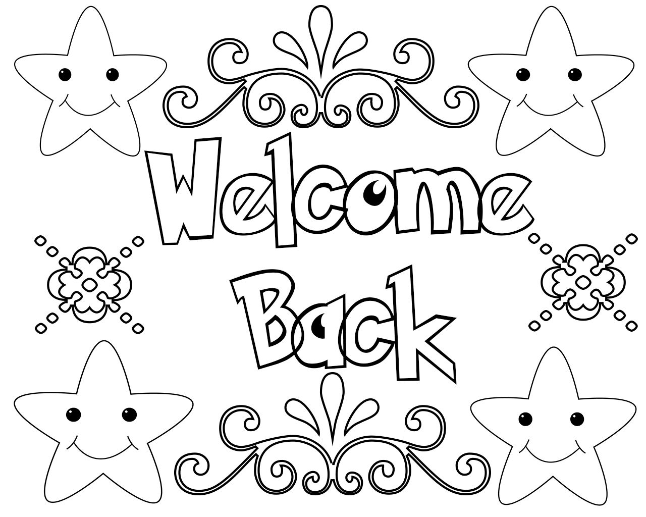 Welcome Back Coloring Pages Free Coloring Pages Printable