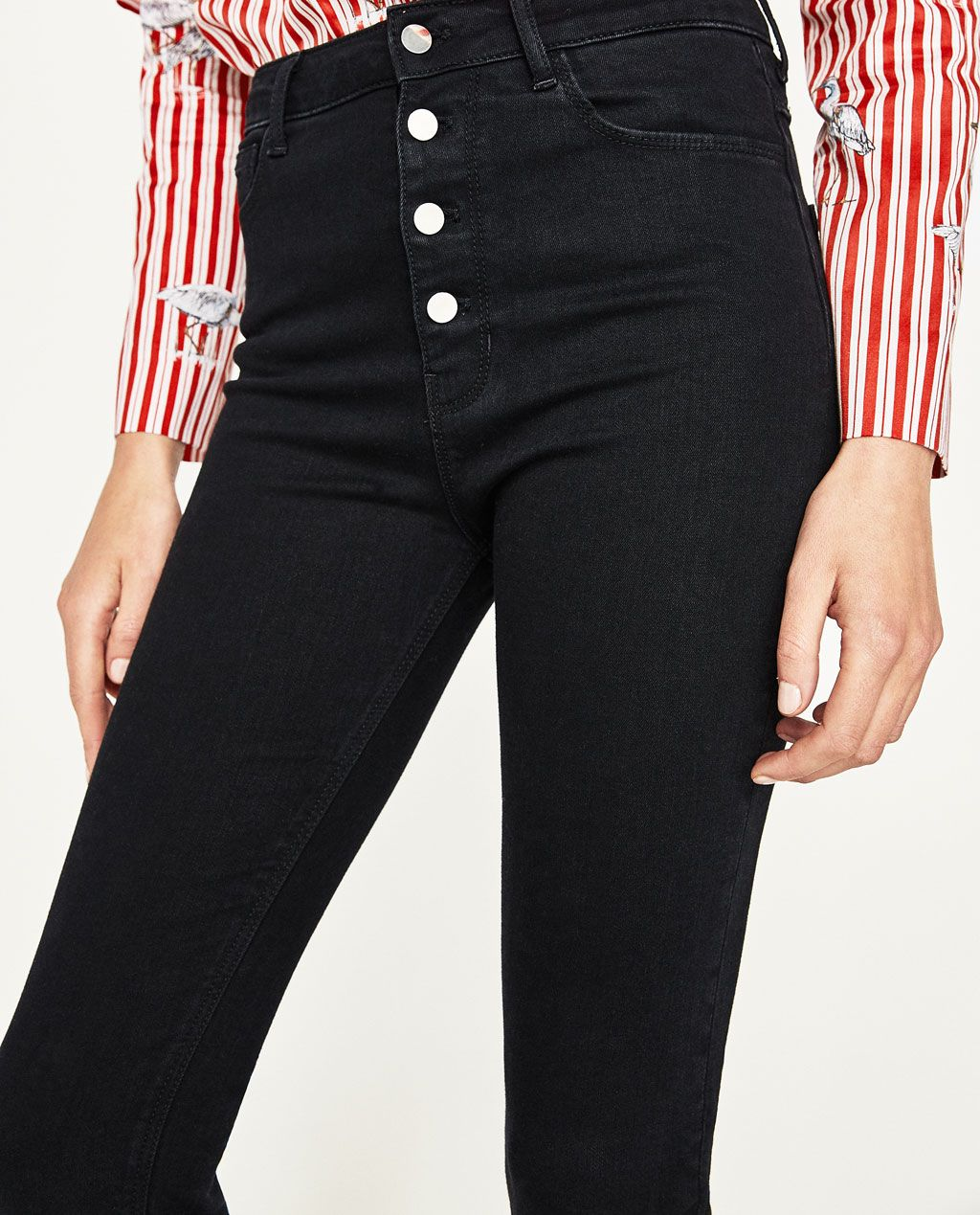 b08a0c5efa HIGH RISE BUTTONED JEANS-View All-JEANS-WOMAN
