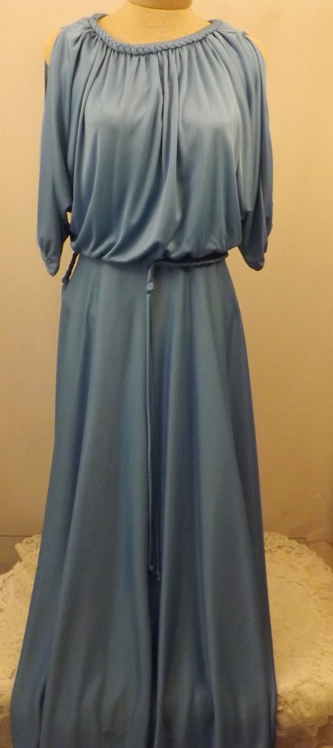 S vintage bernie bee blue evening dress size products