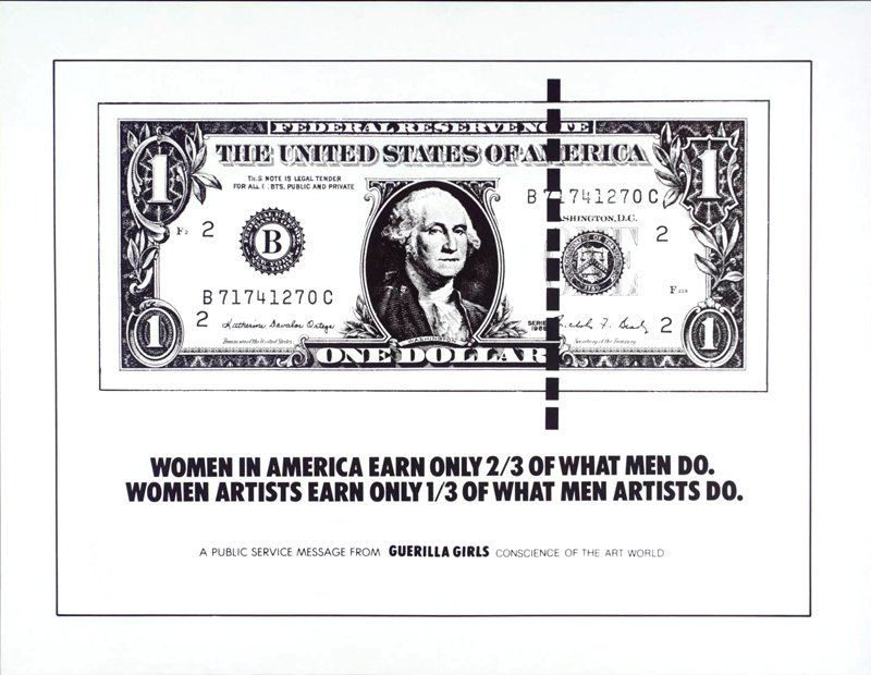 Guerrilla Girls Poster On The Gender Pay Gap In Art And Society Us Womensart Equalpayday Guerrilla Girls Guerrilla Female Artists