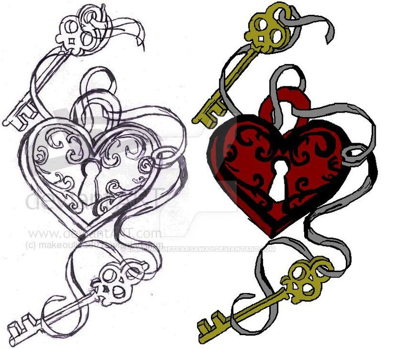 key heart tattoo design by dancingthetearsaway on deviantart