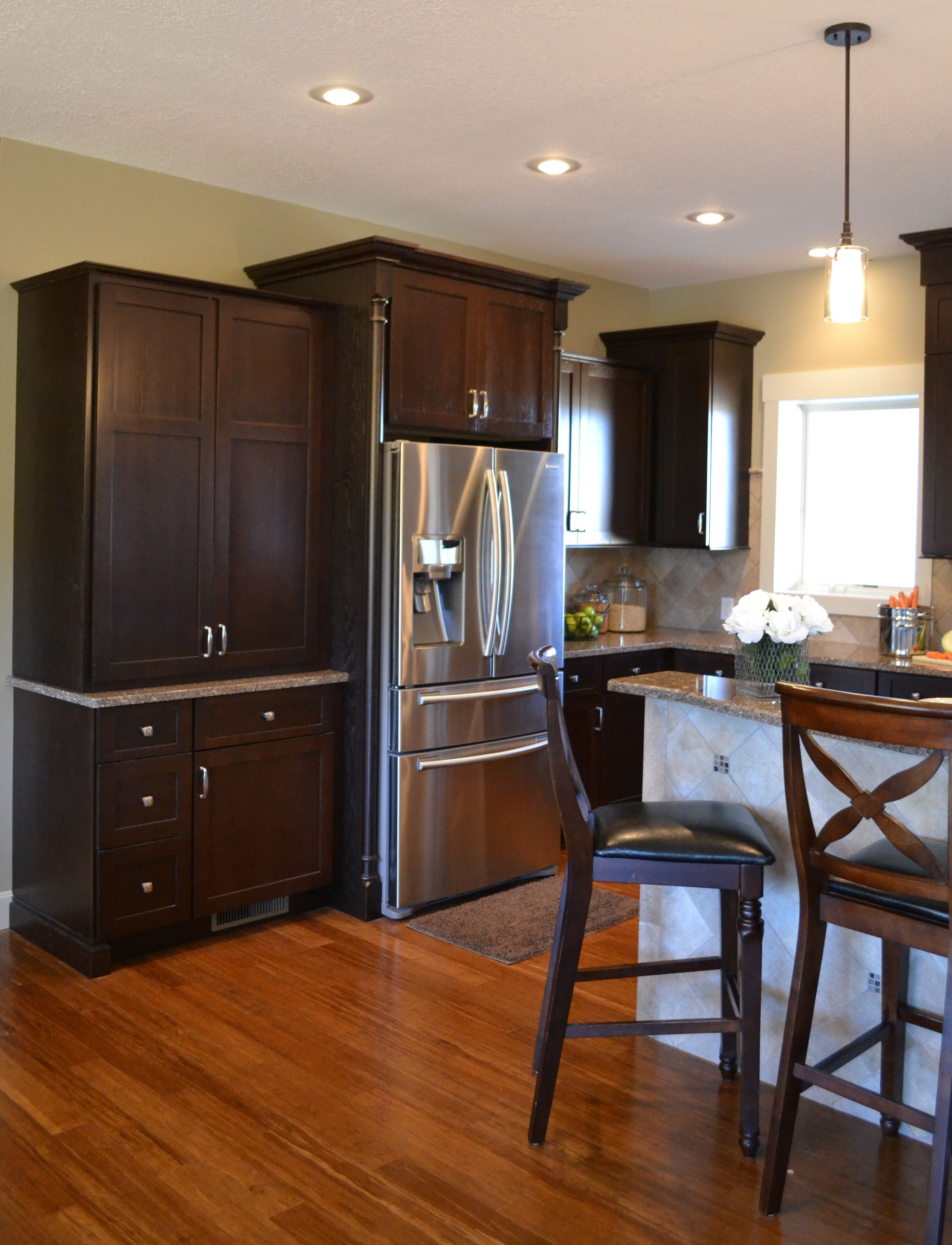 hickory cabinets with a java stain refinish kitchen cabinets hickory cabinets kitchen flooring on kitchen cabinets java id=51489