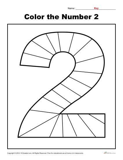Color The Number 2 Preschool Number Worksheet Numbers Preschool Preschool Number Worksheets Preschool Worksheets