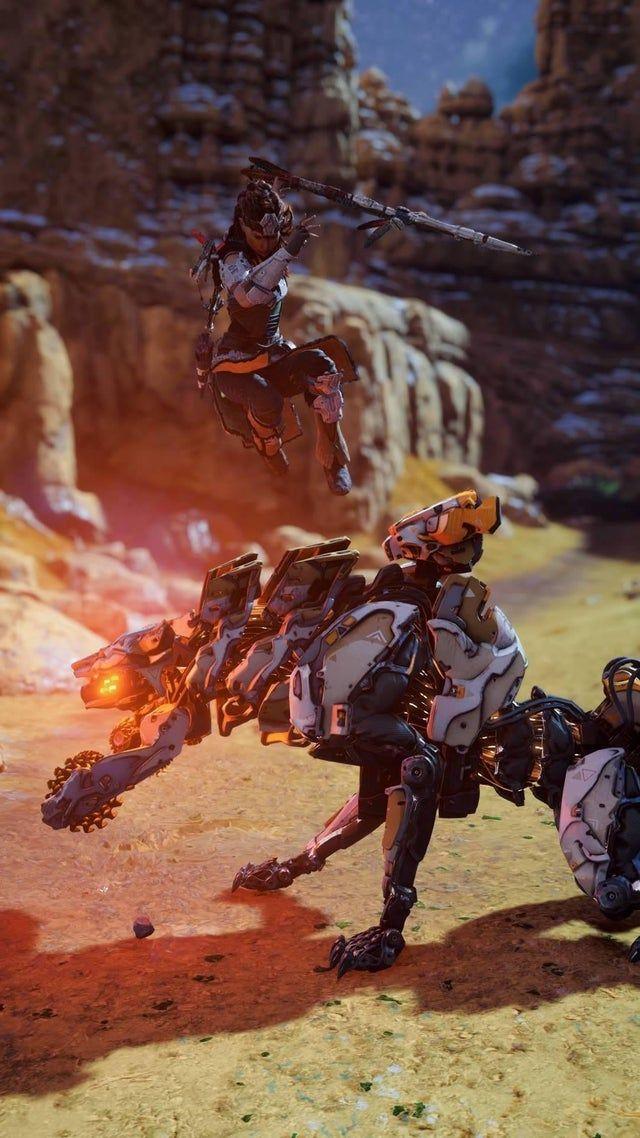 Getting the Jump on a Ravager (Horizon Zero Dawn)