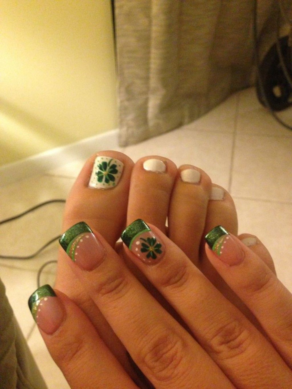 Saint Patricks Day Nail Designs Nail Designs Pinterest Saints