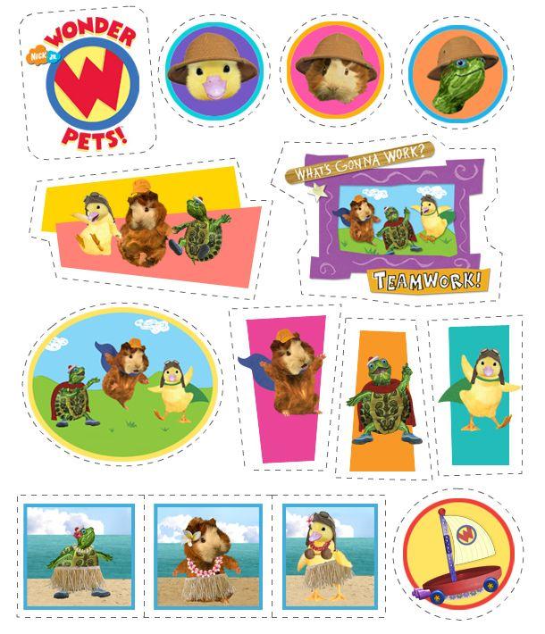 Wonder Pets Stickers Treehouse Wonder Pets Printables Kids