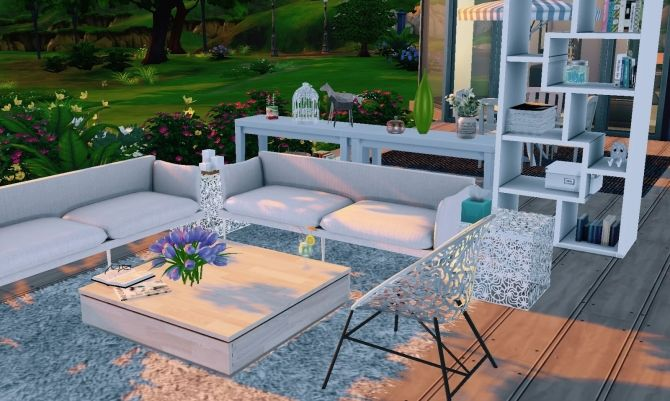 Id Deco Garden Place At Guijobo Sims 4 Houses Sims House Sims 4