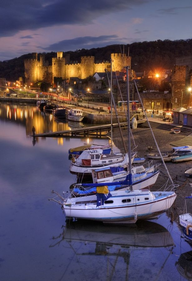 Conwy Castle (Wales) at Dusk by Tom Green on 500px.