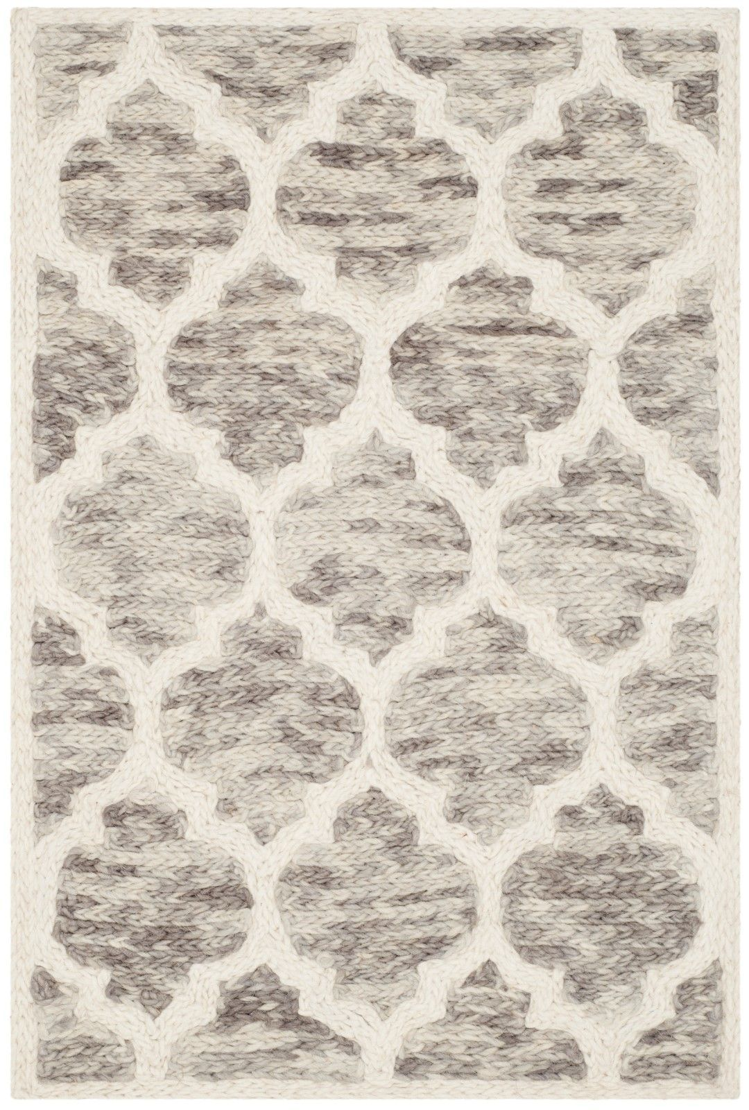Short Hand-Loomed Light Brown/Ivory Area Rug