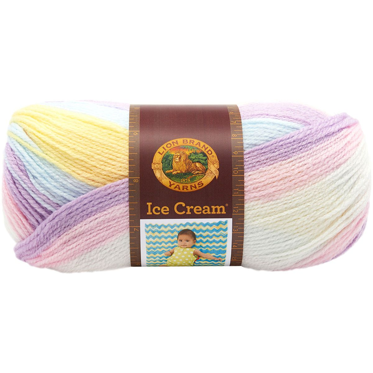 "/""Ice Cream Yarn-Cotton Candy Set Of 3/"""