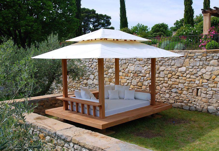 Canopy Bed Contemporary Exterior Moana Honeymoon Outdoor Canopy Bed Pergola Ideas For Patio Gazebo My gazebo and bedroom wall